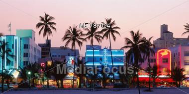 Miami Beach Art Deco District, Florida, USA Stock Photo