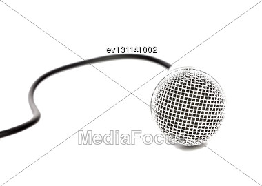 Microphone Isolated Over White Background Stock Photo