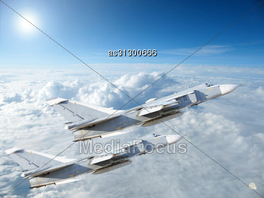 Military Jet Bomber Su-24 Stock Photo