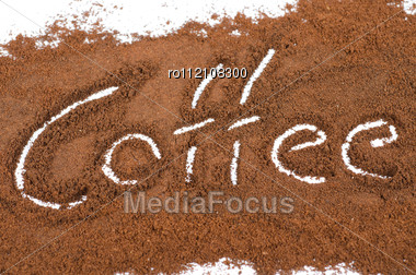 Milled Coffee Sign Stock Photo