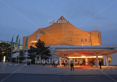 Modern Architecture, Philharmonics, Berlin, Germany Stock Photo