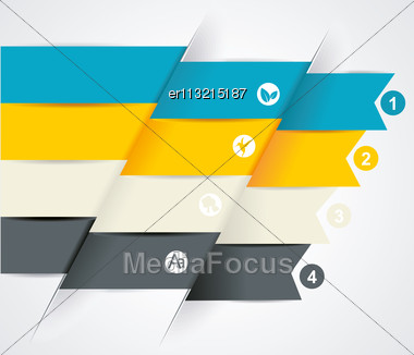 Modern Business Steb Origami Style Options Banner Stock Photo