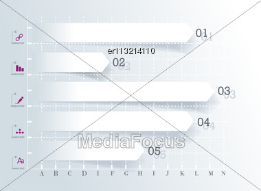 Modern Design Template For Infographics Numbered Banners Graphic Or Website Layout Vector Stock Photo