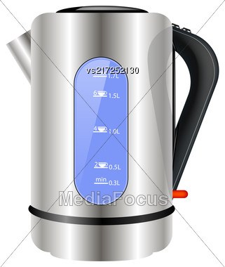 Modern Electric Kettle Icon Isolated On White Background Stock Photo
