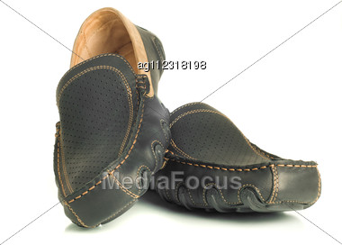 Modern Footwear Black Mens Shoes Moccasins White Wide-angle ...