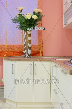 Modern Furniture In The Dining Room Luxury Hotel Stock Photo