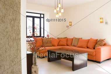 orange living room furniture. Modern Furniture Set Living Room In Cottage / The Stock Photo Orange R