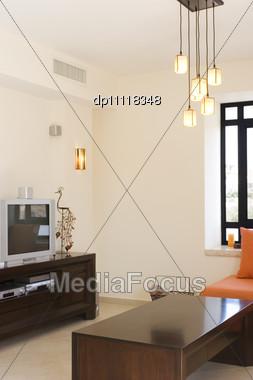 Modern Furniture Set Living Room In Cottage / The Living Room Furniture Set Stock Photo