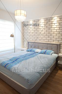 Modern Luxury Bedroom / Hotel Room Stock Photo