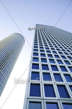 Modern Office Building, Azrieli Tower, Tel-Aviv, Israel Stock Photo