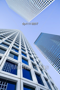 Modern Office Building, Azrieli Tower, Tel-Aviv, Israel Stock Photo