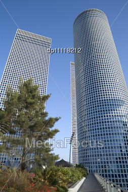 Modern Office Building, Tel-Aviv, Israel Stock Photo