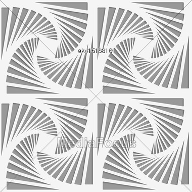 Modern Seamless Pattern. Geometric Background With Perforated Effect. Shadow Creates 3D Texture.Perforated Striped Rotated Triangular Shapes Stock Photo