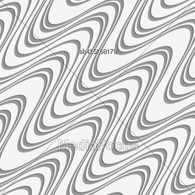 Modern Seamless Pattern. Geometric Background With Perforated Effect. Shadow Creates 3D Texture.Perforated Diagonal Uneven Waves Stock Photo