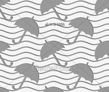 Modern Seamless Pattern. Geometric Background With Perforated Effect. Shadow Creates 3D Texture.Perforated Umbrellas Stock Photo