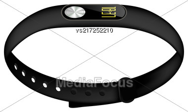 Modern Sport Fitness Tracker Isolated On White Background Stock Photo