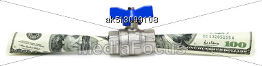 Money Flowing Isolated On White Stock Photo