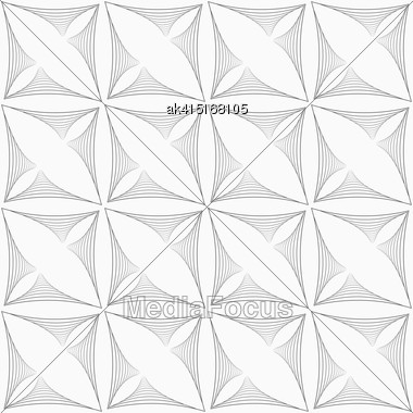 Monochrome Abstract Geometrical Pattern. Modern Gray Seamless Background. Flat Simple Design.Gray Striped Triangular Shapes In Grid Stock Photo