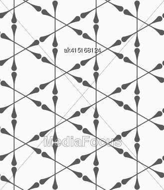 Monochrome Abstract Geometrical Pattern. Modern Gray Seamless Background. Flat Simple Design.Gray Clubs Forming Triangles Stock Photo
