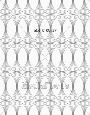 Monochrome Abstract Geometrical Pattern. Modern Gray Seamless Background. Flat Simple Design.Gray Clubs Striped Stock Photo