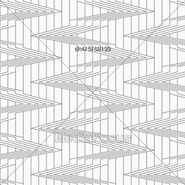 Monochrome Abstract Geometrical Pattern. Modern Gray Seamless Background. Flat Simple Design.Gray Corners On Continues Lines Stock Photo