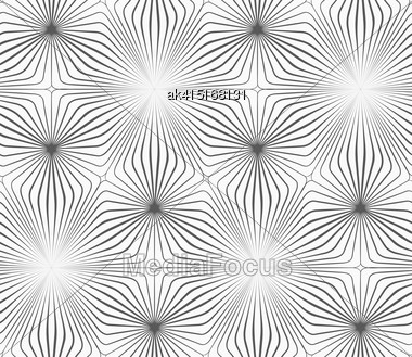 Monochrome Abstract Geometrical Pattern. Modern Gray Seamless Background. Flat Simple Design.Gray Striped Triangles Forming Triangles Stock Photo