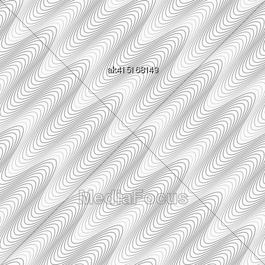 Monochrome Abstract Geometrical Pattern. Modern Gray Seamless Background. Flat Simple Design.Gray Diagonal Wavy Texture Stock Photo