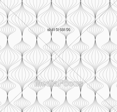 Monochrome Abstract Geometrical Pattern. Modern Gray Seamless Background. Flat Simple Design.Gray Striped Vertical Chinese Lanterns Stock Photo