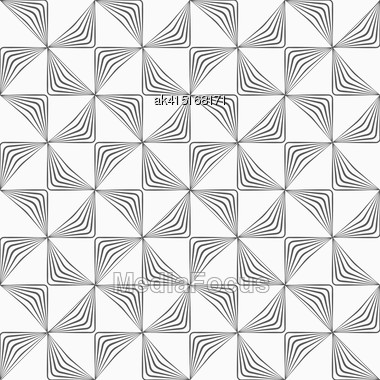 Monochrome Abstract Geometrical Pattern. Modern Gray Seamless Background. Flat Simple Design.Gray Striped Rotated Triangles Stock Photo