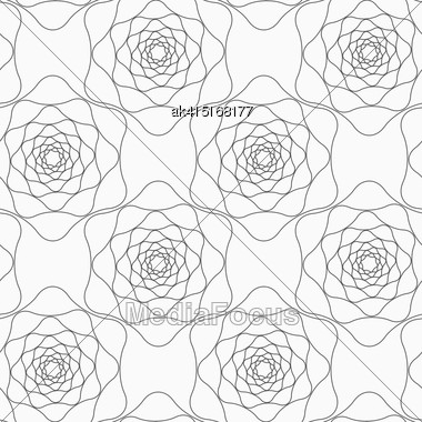 Monochrome Abstract Geometrical Pattern. Modern Gray Seamless Background. Flat Simple Design.Gray Abstract Roses Stock Photo