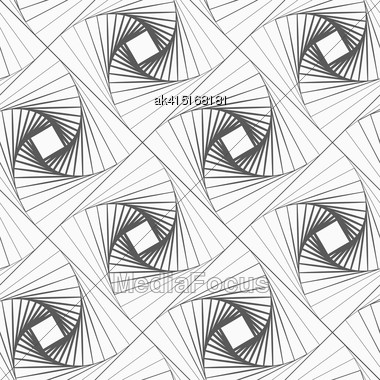 Monochrome Abstract Geometrical Pattern. Modern Gray Seamless Background. Flat Simple Design.Gray Striped Shapes Forming Squares Stock Photo
