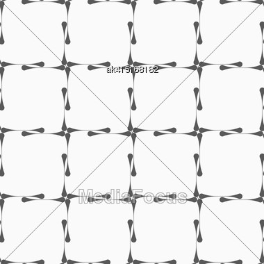 Monochrome Abstract Geometrical Pattern. Modern Gray Seamless Background. Flat Simple Design.Gray Vertical Gray Clubs Forming Square Grid Stock Photo