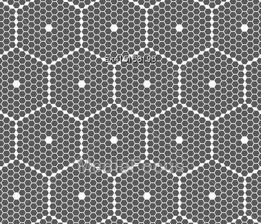 Monochrome Abstract Geometrical Pattern. Modern Gray Seamless Background. Flat Simple Design.Gray Small Hexagons Forming Big Hexagons Stock Photo