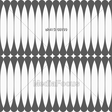 Monochrome Abstract Geometrical Pattern. Modern Gray Seamless Background. Flat Simple Design.Gray Vertical Reflecting Clubs Stock Photo