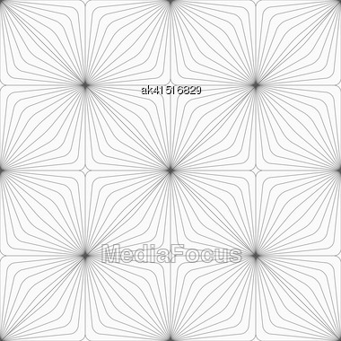 Monochrome Abstract Geometrical Pattern. Modern Gray Seamless Background. Flat Simple Design.Gray Diagonally Striped Squared Reflected Stock Photo