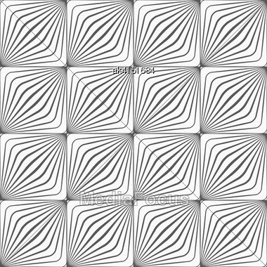 Monochrome Abstract Geometrical Pattern. Modern Gray Seamless Background. Flat Simple Design.Gray Diagonally Striped Squared Forming Grid Stock Photo