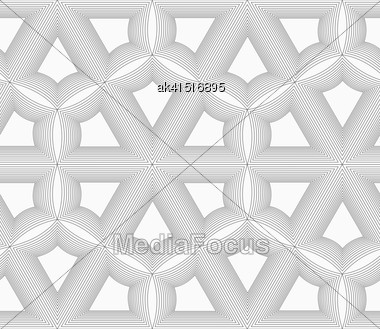 Monochrome Abstract Geometrical Pattern. Modern Gray Seamless Background. Flat Simple Design.Gray Unevenly Striped Grid Stock Photo