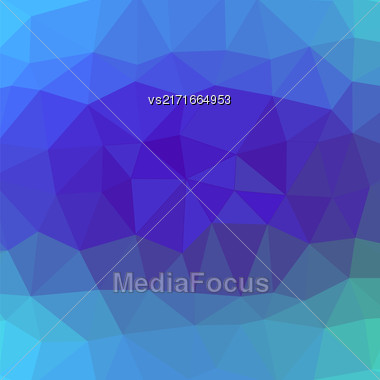 Mosaic Blue Background. Abstract Polygonal Blue Pattern Stock Photo