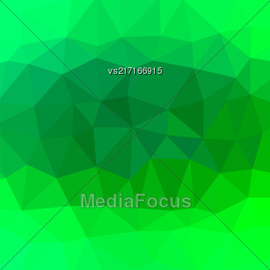 Mosaic Green Background. Abstract Polygonal Green Pattern Stock Photo