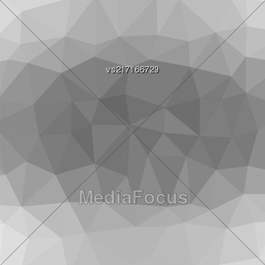 Mosaic Grey Background. Abstract Polygonal Grey Pattern Stock Photo