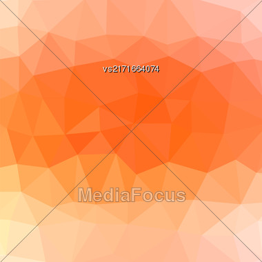 Mosaic Orange Background. Abstract Polygonal Orange Pattern Stock Photo
