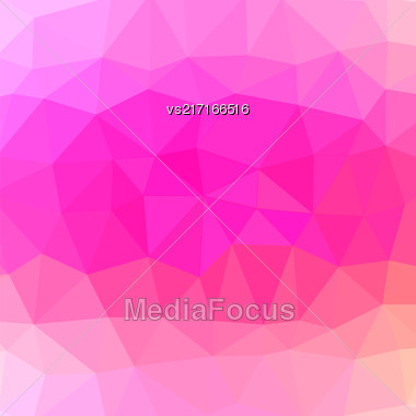 Mosaic Pink Background. Abstract Polygonal Pink Pattern Stock Photo