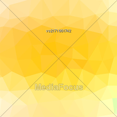 Mosaic Yellow Background. Abstract Polygonal Yellow Pattern Stock Photo