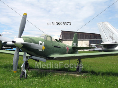 Moscow, Monino, Russia, The Plane Of War An Aerocobra On Parking Stock Photo