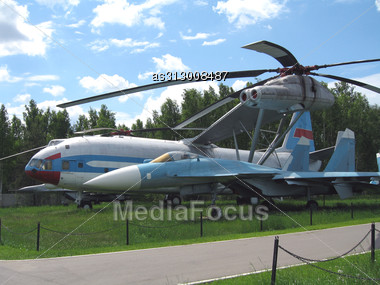 Moscow, Monino, Russia, The Plane Of War An A Parking Stock Photo