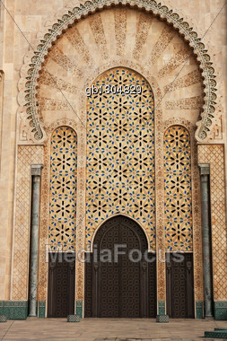 Mosque Hassan II in Casablanca, Morocco Stock Photo