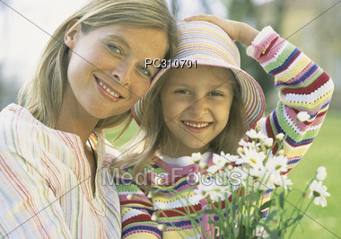 Mother and Daughter Allergy Free Stock Photo