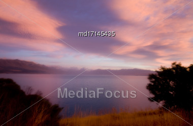 Mount Cook New Zealand National Park Southern Alps Stock Photo