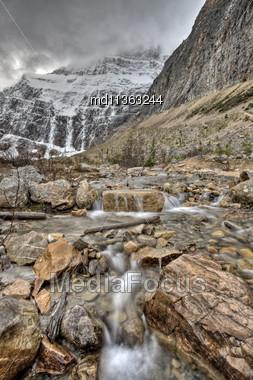 Mount Edith Cavell Jasper Alberta Canada Stock Photo