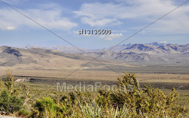 Mountain Landscape. Nevada Stock Photo